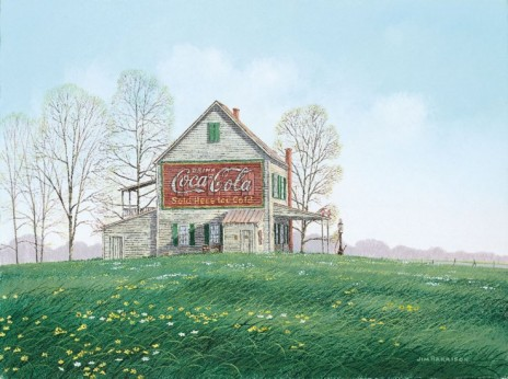 Coca-Cola and Spring Flowers