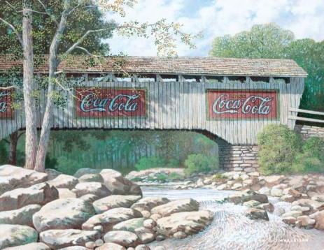 Coca-Cola Bridge in Shade