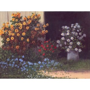 Flowers in Barn Door