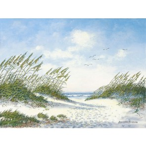 Sea Oats and Gulls