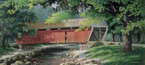 Covered Bridge in Spring